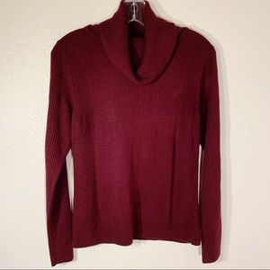 Carol Rose Burgundy Turtle Neck PM